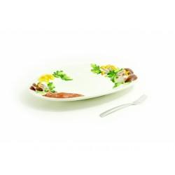 huby 3D veľký oválny tanier