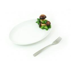 Huby 3D stredný oválny tanier