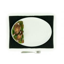 Veľký oválny tanier so slukou