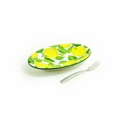 Plochý oválny malý tanier...