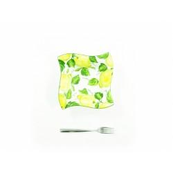 Stredná hranatá miska citrón
