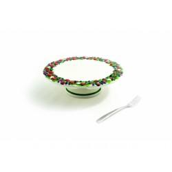 Bobule plochý tanier na nôžke