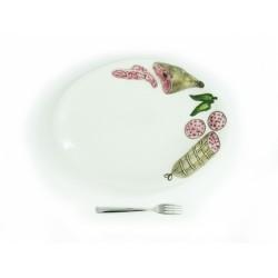 Saláma stredný oválny tanier
