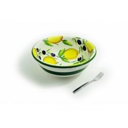 Hlboká miska citrón olivy