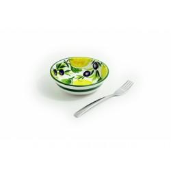 Malá hlboká miska citrón olivy