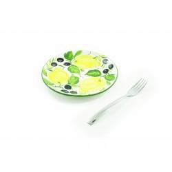 Plochý tanier citrón olivy