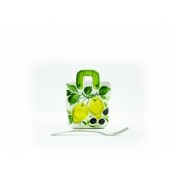 Taška stredná citrón olivy