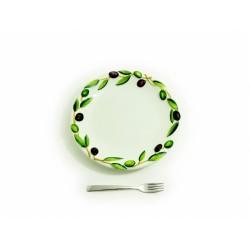 Plochý tanier olivy