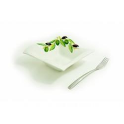 Stredná hranatá miska olivy