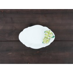 Oválna miska zelená hortenzia