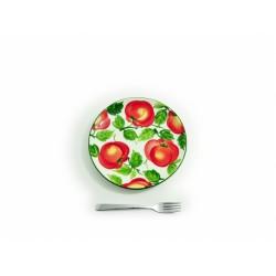 Plochý tanier paradajky