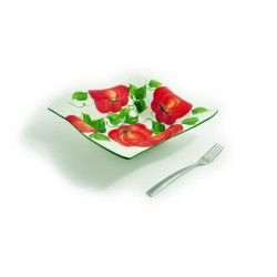 Veľká hranatá miska paradajky