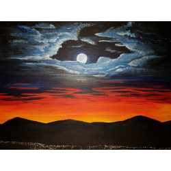 Mesiac pri západe slnka