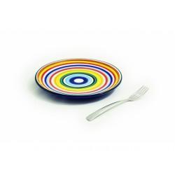 Plochý dúhový tanier