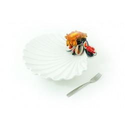 Veľká jakobs mušľa s 3D krabom