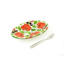 Plochý oválny malý tanier