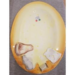 Oválny tanier s 3D myškou