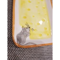 Obdĺžnikový tanier s 3D myškou