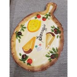 Malý oválny tanier s rúčkou