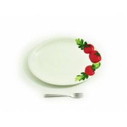 Plochý oválny stredný tanier